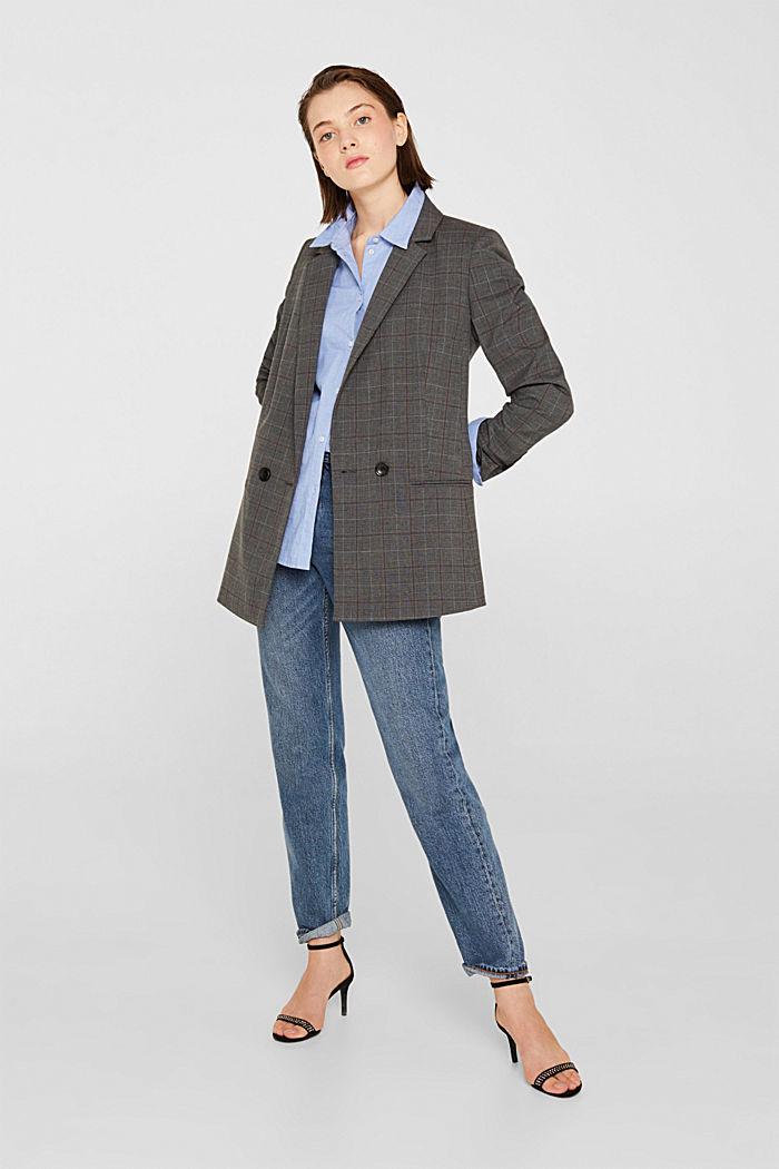 Blusa de chambray en 100% algodón, LIGHT BLUE, detail image number 1