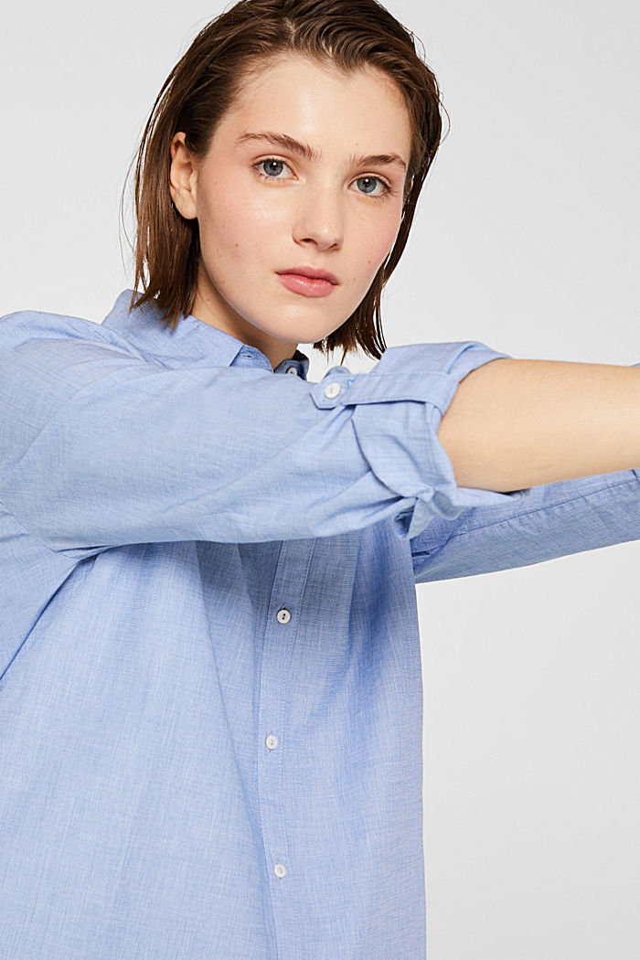 Blusa de chambray en 100% algodón, LIGHT BLUE, detail image number 2