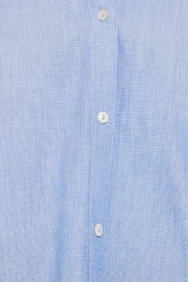 Chambray blouse made of 100% cotton, LIGHT BLUE, detail