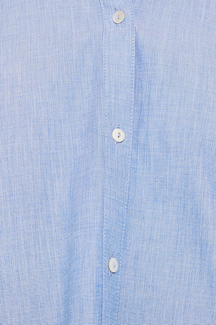 Chambray blouse made of 100% cotton, LIGHT BLUE, detail image number 4