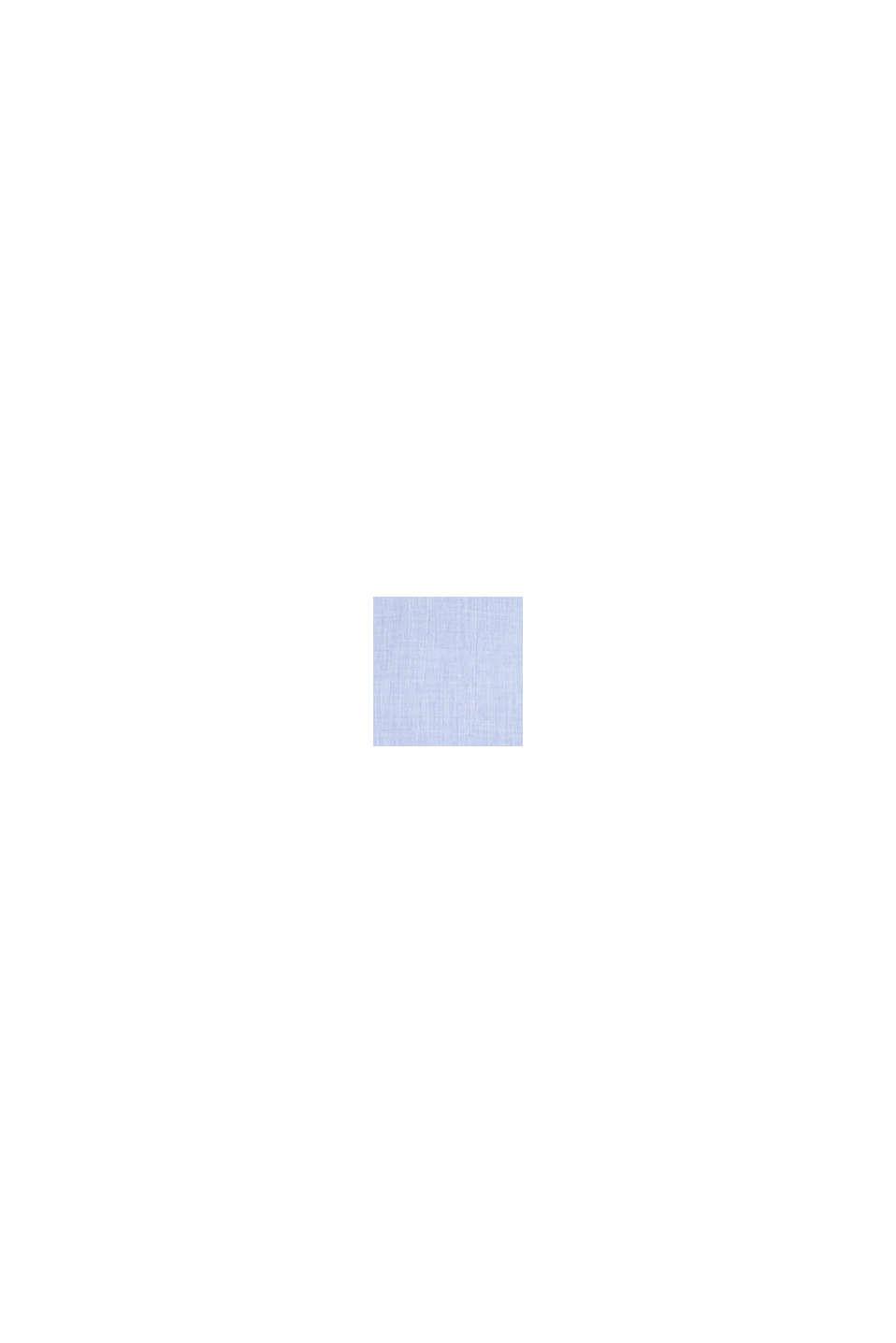 Chambray-Bluse aus 100% Baumwolle, LIGHT BLUE, swatch