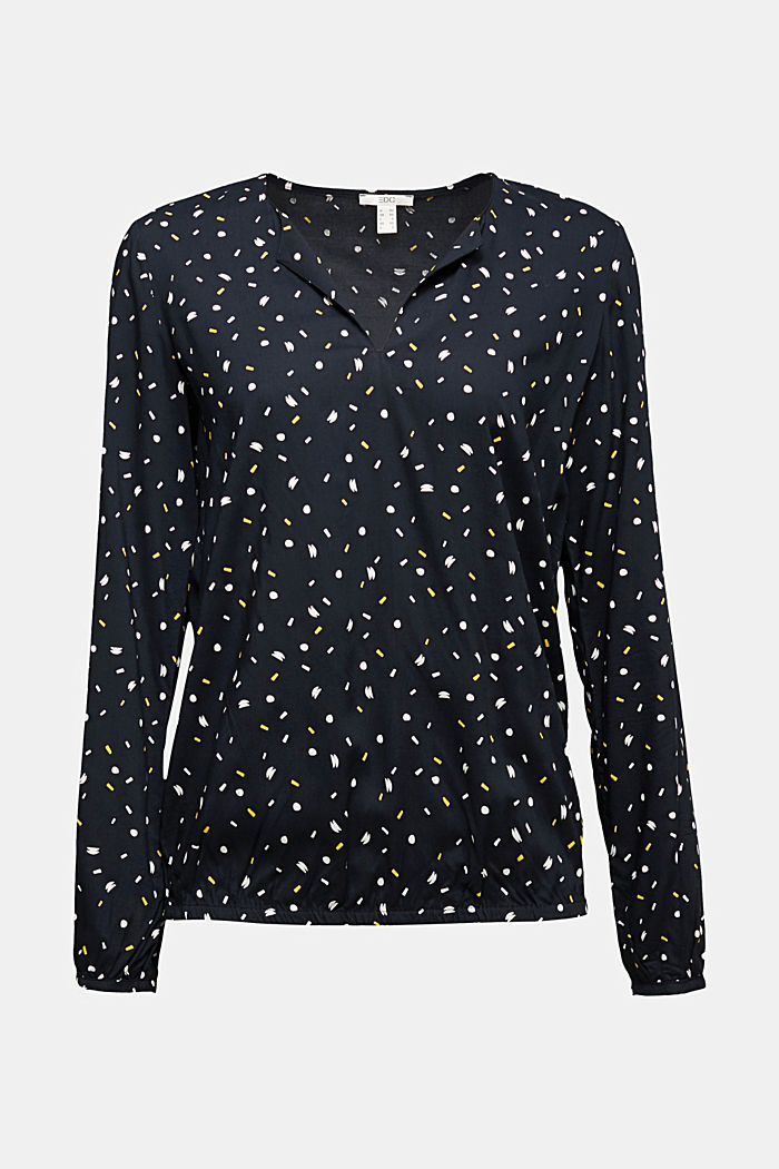 Blouse made from LENZING™ ECOVERO™, BLACK, detail image number 6