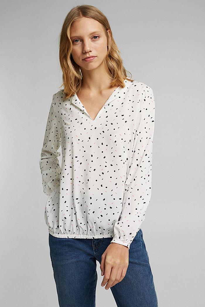 Blusa de LENZING™ ECOVERO™, OFF WHITE, detail image number 0