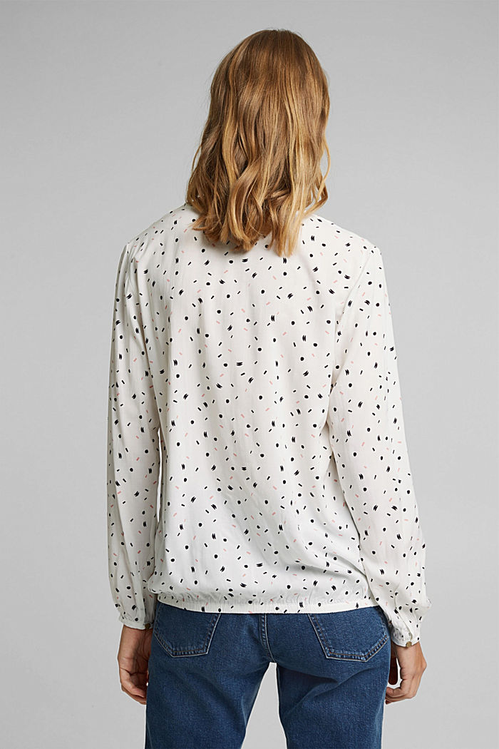 Blusa de LENZING™ ECOVERO™, OFF WHITE, detail image number 3
