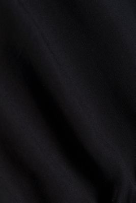 Blouse made from LENZING™ ECOVERO™, BLACK, detail