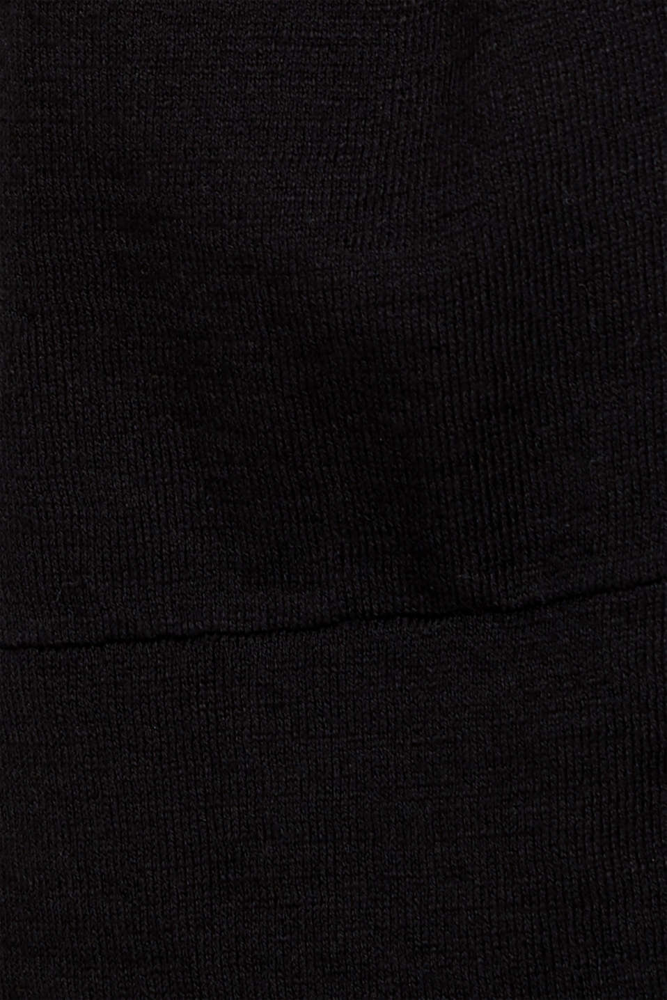 Lightweight cardigan with hood, 100% cotton, BLACK, detail image number 4