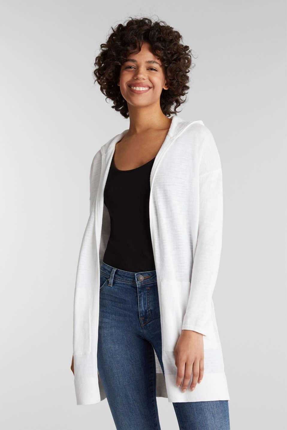Cardigan, 100% cotton, WHITE, detail image number 0