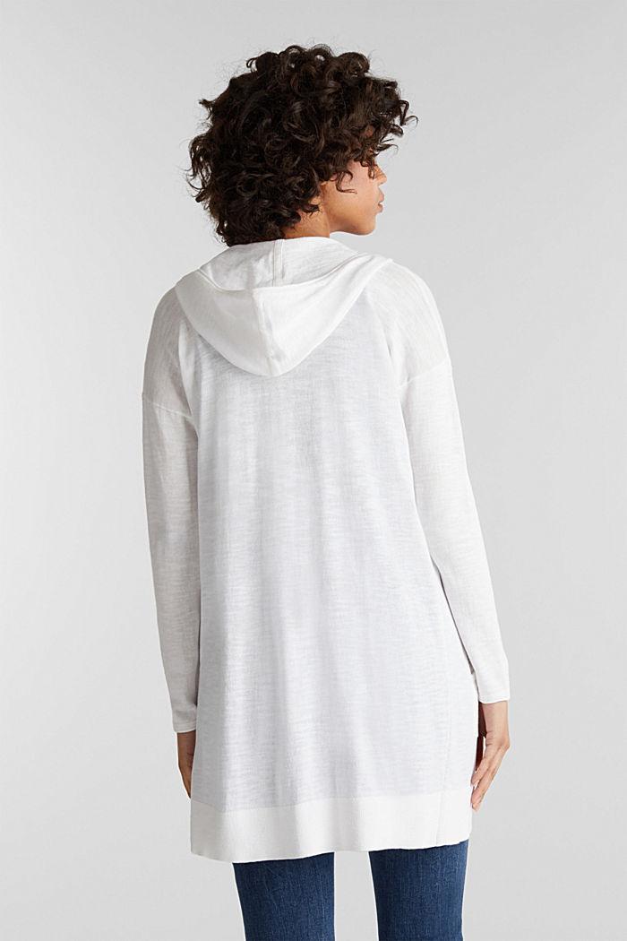 Cardigan, 100% cotton, WHITE, detail image number 3