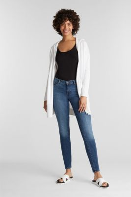 Cardigan, 100% cotton, WHITE, detail