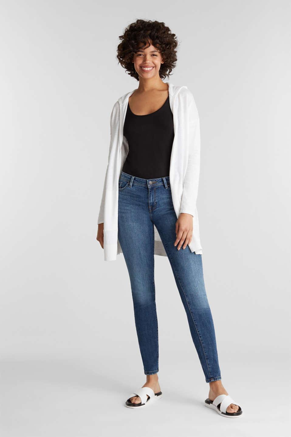 Cardigan, 100% cotton, WHITE, detail image number 1