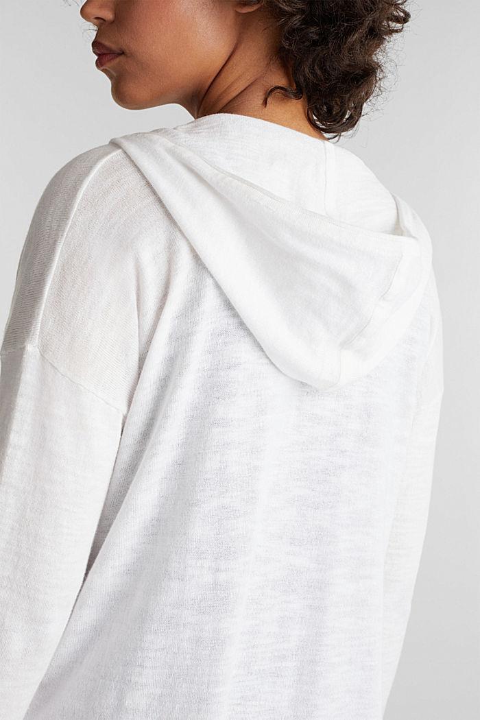 Cardigan, 100% cotton, WHITE, detail image number 2