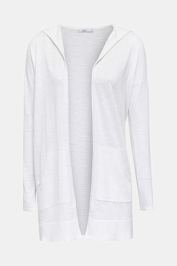 Cardigan, 100% cotton, WHITE, detail image number 6
