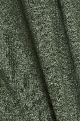 Cardigan, 100% cotton, KHAKI GREEN 5, detail