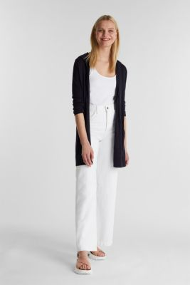 Cardigan, 100% cotton, NAVY, detail