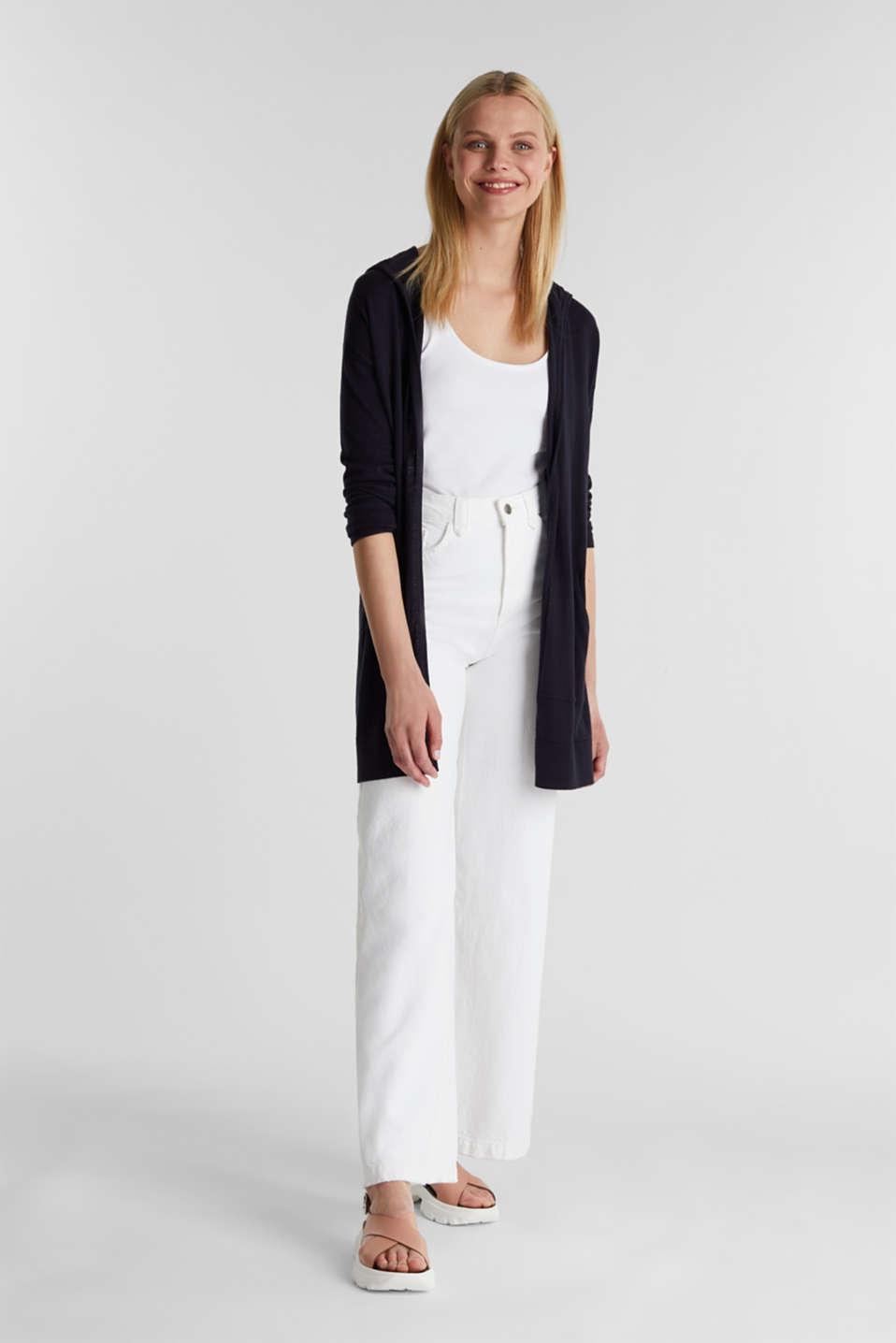Cardigan, 100% cotton, NAVY, detail image number 1