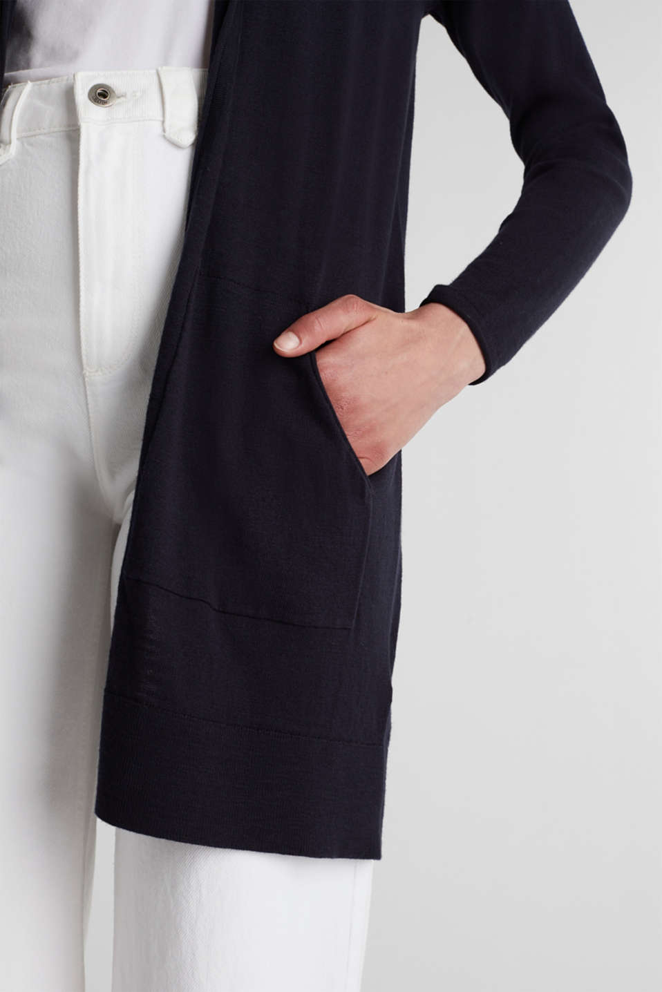 Cardigan, 100% cotton, NAVY, detail image number 5