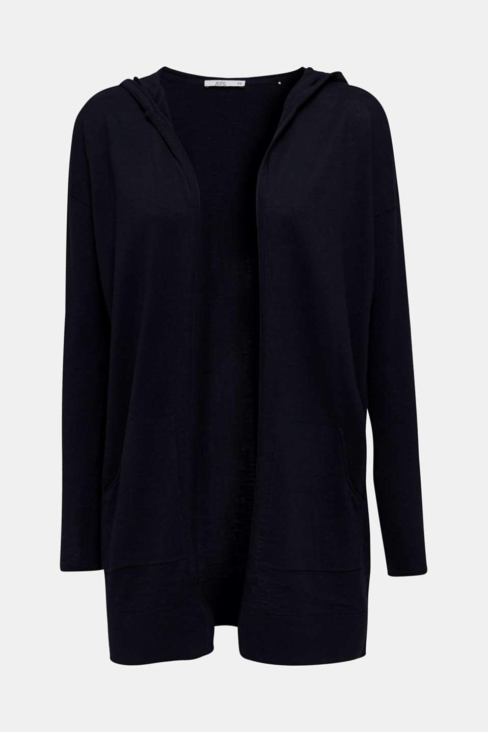Cardigan, 100% cotton, NAVY, detail image number 7