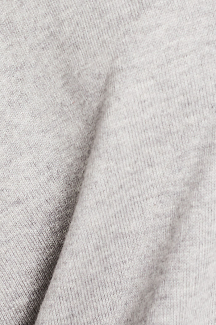 V-Pullover, Bio-Baumwolle, LIGHT GREY, detail image number 4