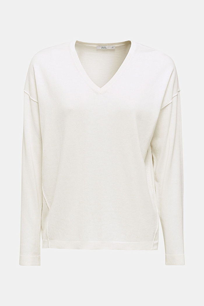 V-neck jumper, organic cotton