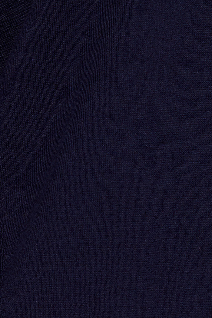 V-neck jumper, organic cotton, NAVY, detail image number 4
