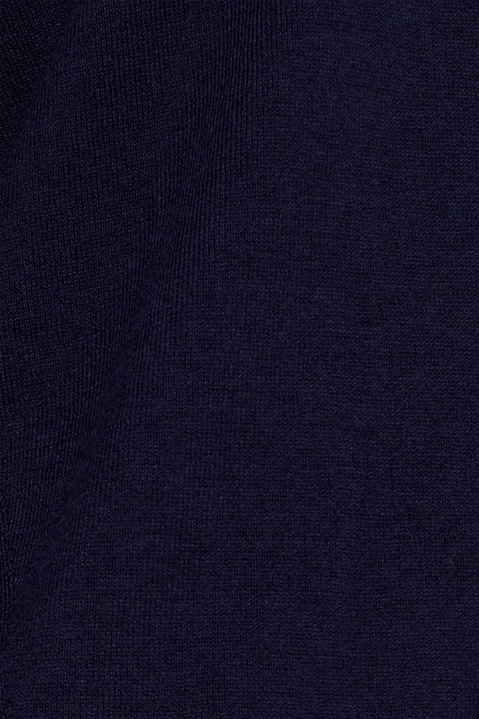 V-Pullover, Bio-Baumwolle, NAVY, detail image number 4