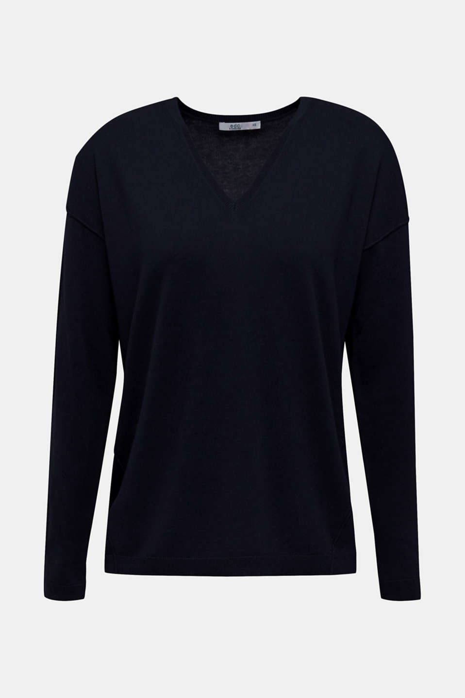 Sweaters, NAVY, detail image number 6