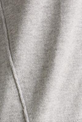 Round neckline jumper with organic cotton