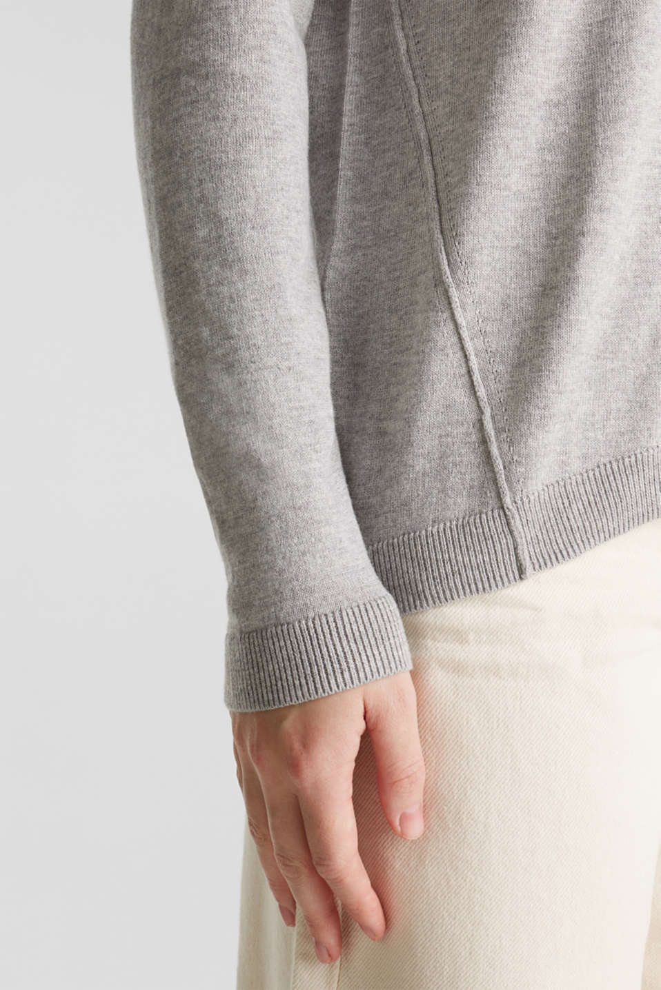 Sweaters, LIGHT GREY 5, detail image number 5
