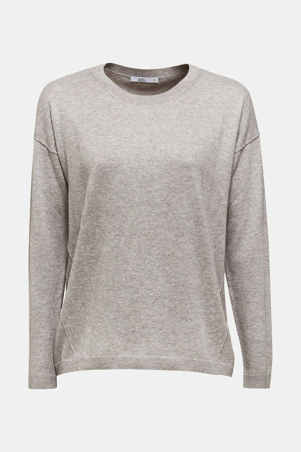 Sweaters, LIGHT GREY 5, detail image number 7