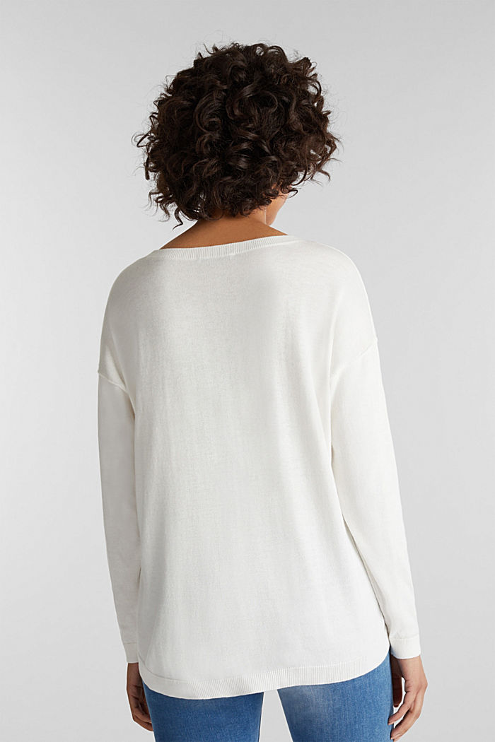 Jumper with organic cotton, OFF WHITE, detail image number 3