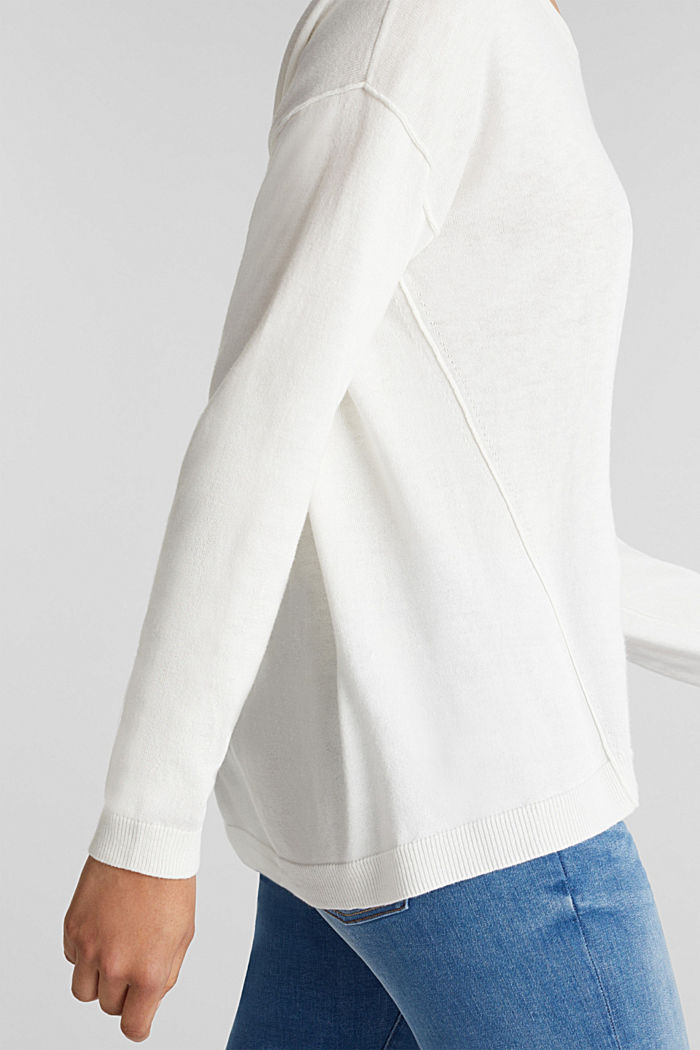 Jumper with organic cotton, OFF WHITE, detail image number 2
