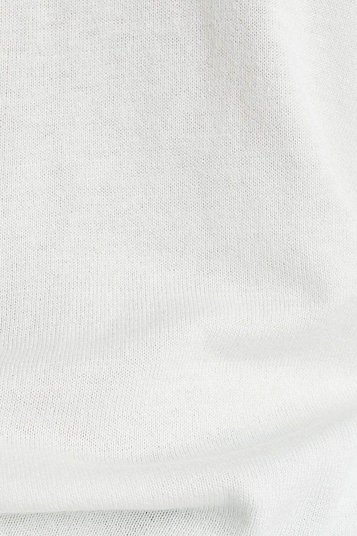 Jumper with organic cotton, OFF WHITE, detail image number 4