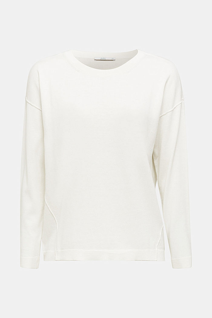 Jumper with organic cotton, OFF WHITE, detail image number 5