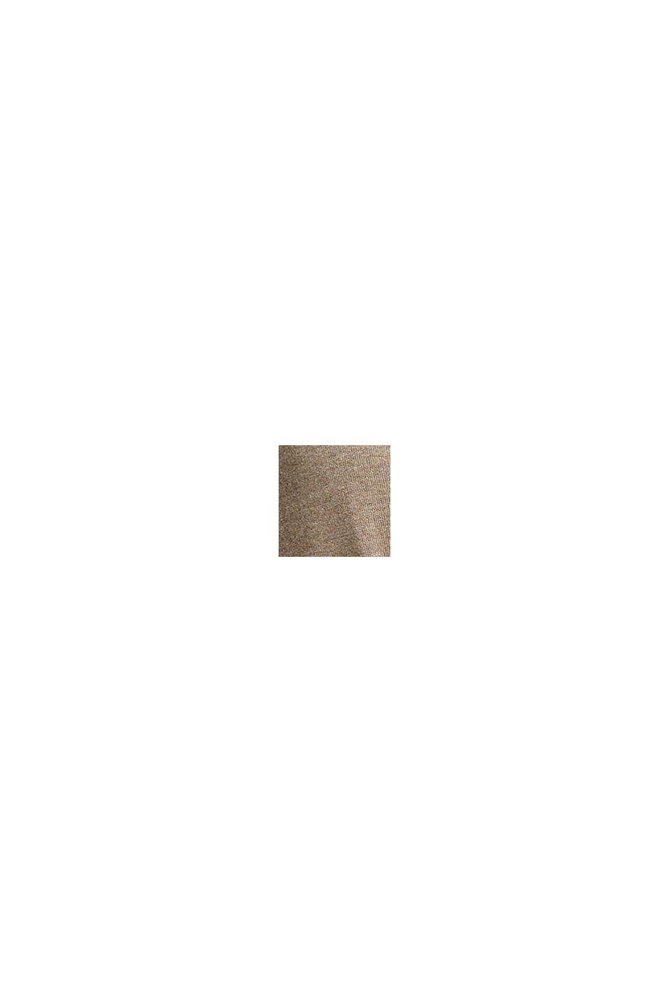 Basic Cardigan mit Bio-Baumwolle, TAUPE, swatch
