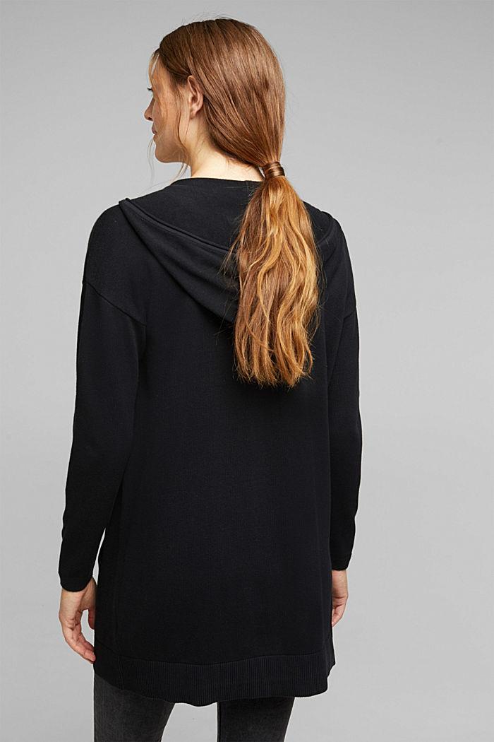 Long cardigan containing organic cotton, BLACK, detail image number 3