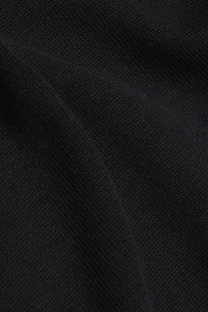 Long cardigan containing organic cotton, BLACK, detail image number 4