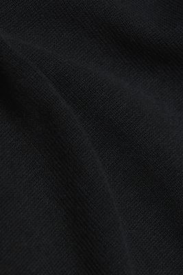 Long cardigan containing organic cotton, BLACK, detail