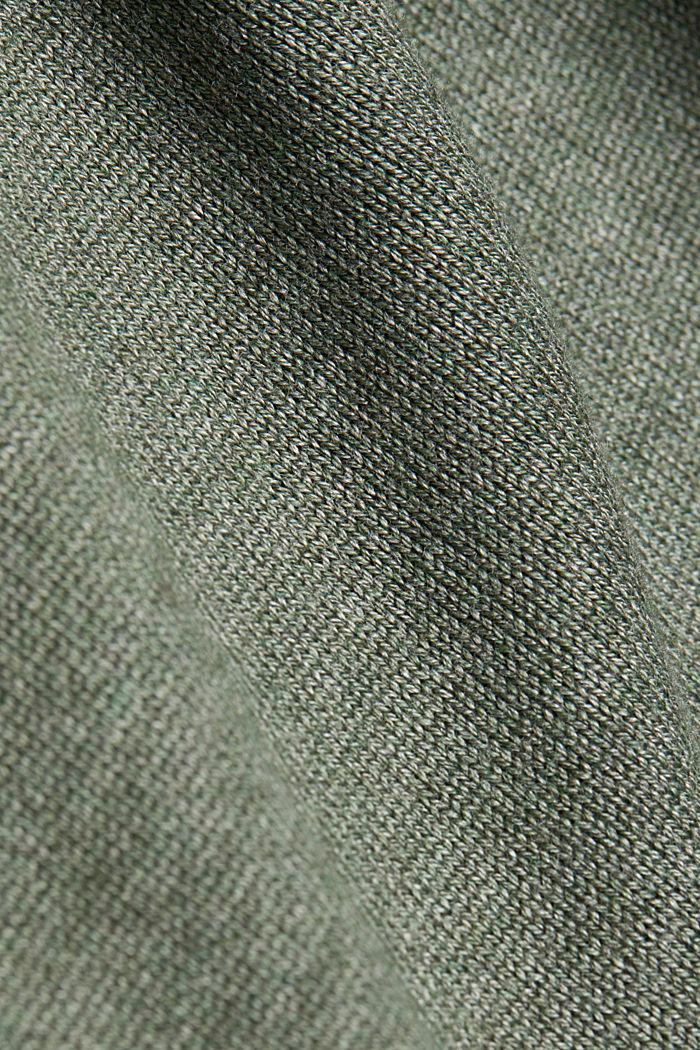 Long cardigan containing organic cotton, KHAKI GREEN, detail image number 4