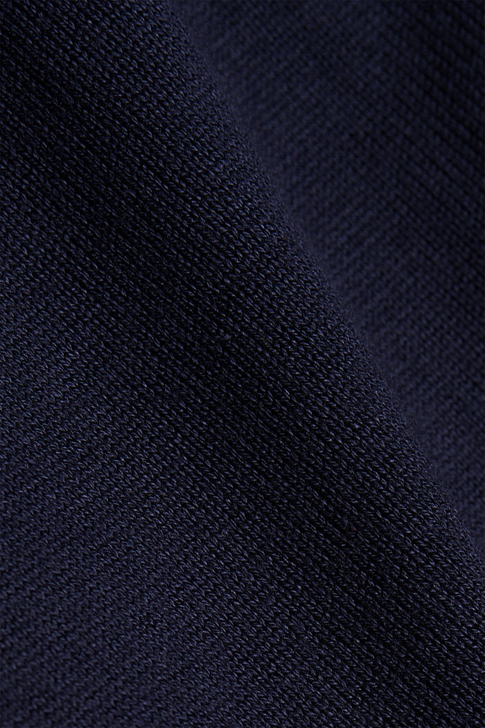 Long cardigan containing organic cotton, NAVY, detail image number 4
