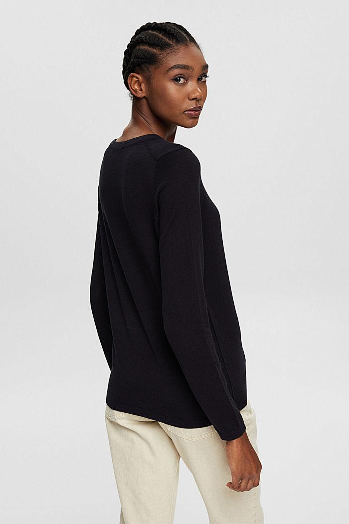 Pullover mit Organic Cotton, BLACK, detail image number 3