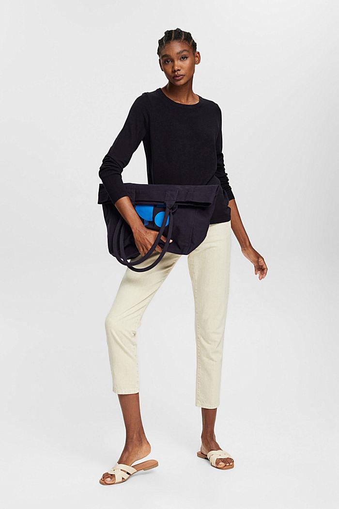 Pullover mit Organic Cotton, BLACK, detail image number 1
