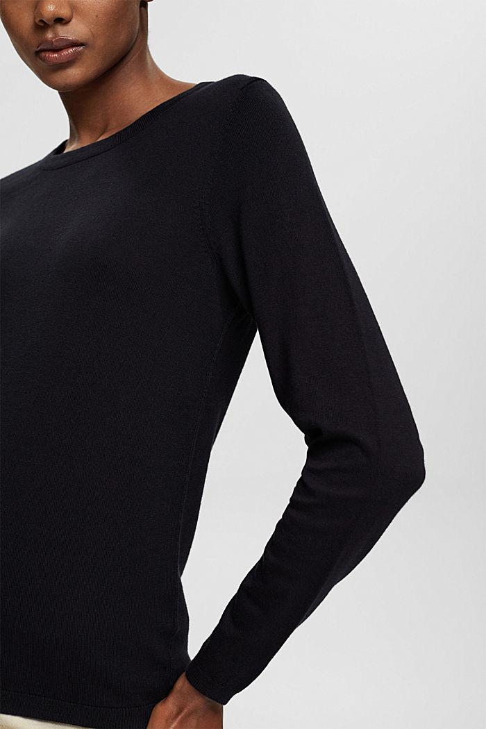 Pullover mit Organic Cotton, BLACK, detail image number 2