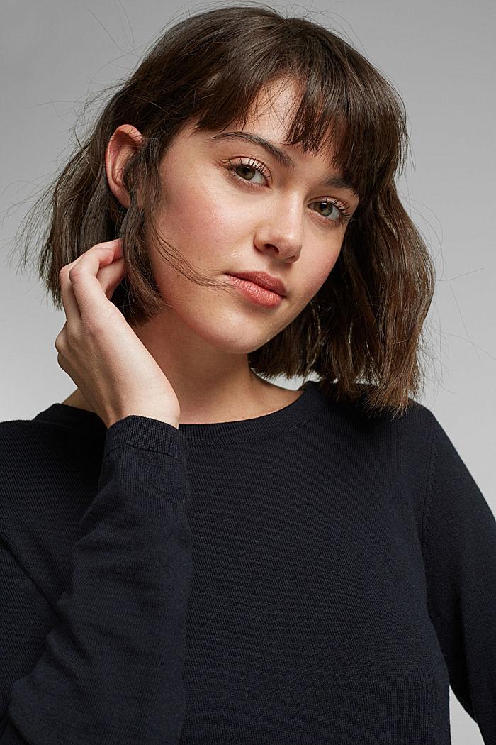 Pullover mit Organic Cotton, BLACK, detail image number 5