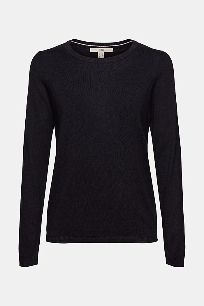 Pullover mit Organic Cotton, BLACK, detail image number 6
