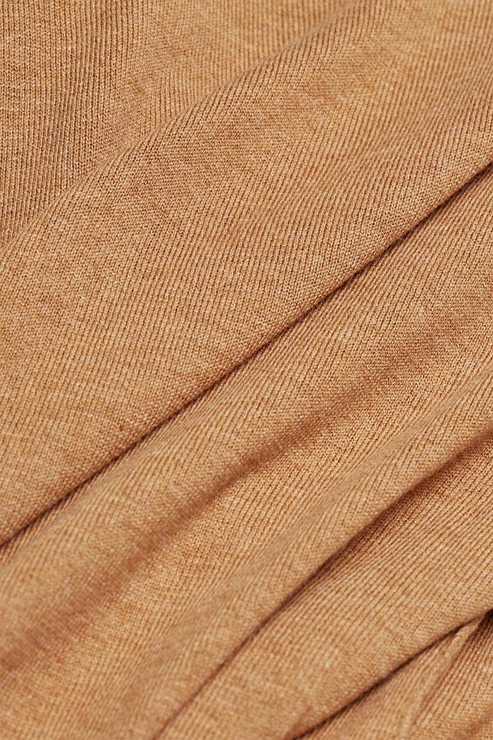 Trui met organic cotton, CARAMEL, detail image number 4