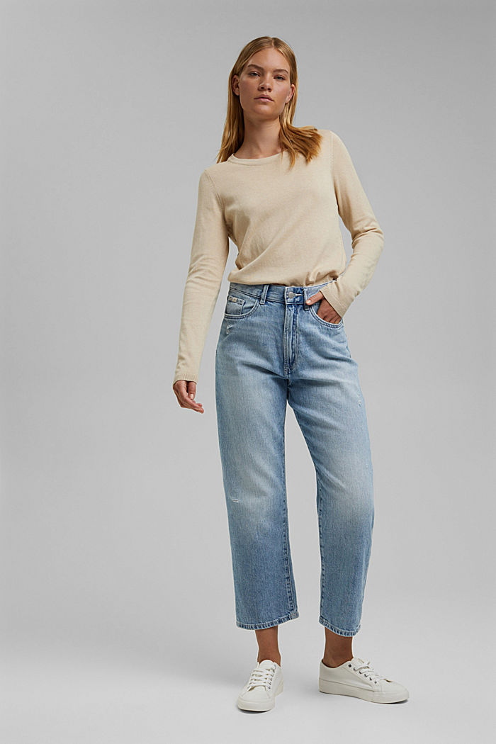 Pullover mit Organic Cotton, BEIGE, detail image number 1