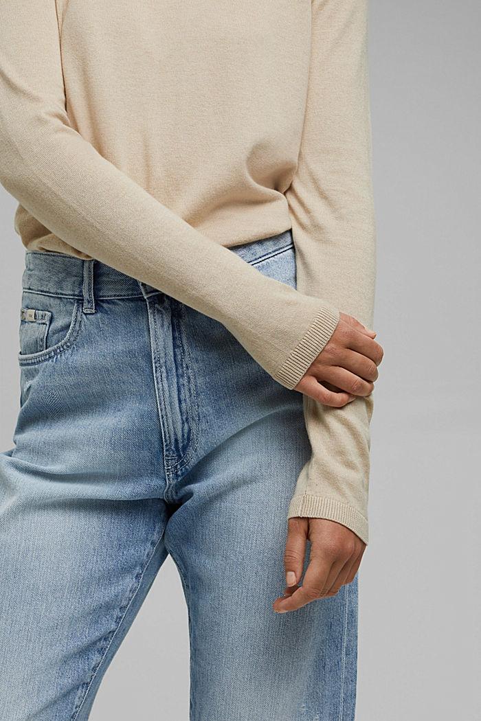 Pullover mit Organic Cotton, BEIGE, detail image number 2