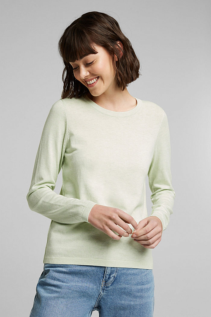 Jumper with organic cotton, PASTEL GREEN, detail image number 0