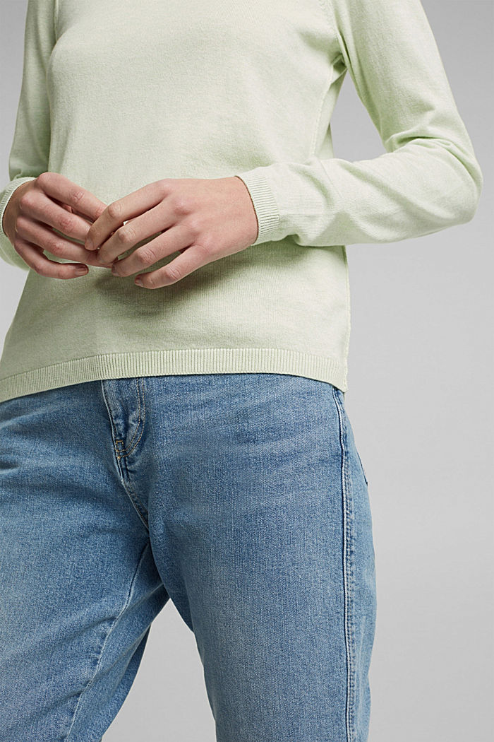 Jumper with organic cotton, PASTEL GREEN, detail image number 2