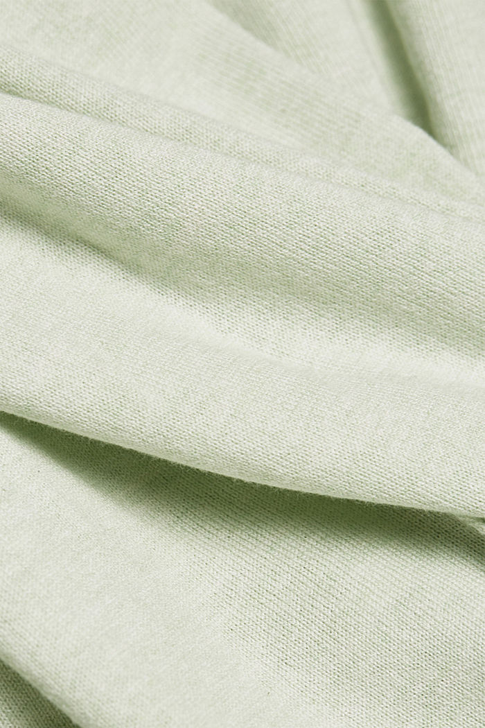 Jumper with organic cotton, PASTEL GREEN, detail image number 4
